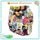 Free Products Samples New Arrival Character Printed Cloth Diaper With One Microfiber Insert
