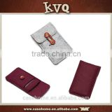 Professional Customized wool felt mobile phone bag with card slots for all brands phones