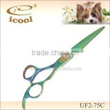 UF2-75C Stainless Steel Handle Curved SUS440C Stainless Steel tattoo hairdressing scissors