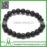 Handmade bead bracelet western popular design simple bead bracelet factory wholesale black lava bracelet