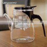 Heat-resistant Glass Tea/Coffee Pots with Infusion/Filter/Strainer Guangzhou Supplies