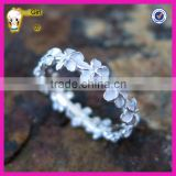 Wholesale jewelry 925 sterling silver plumeria design rings, flower holiday ring for women