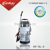 5L Garden pressure sprayer, manual air pressure sprayer, hand pump plastic sprayer(KF-5L-3)