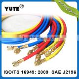 high quality saej2196 refrigerant charging hoses with ball valve