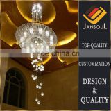 long high ceiling pendant light fixture crystal ball chandelier for staircase or lobby                                                                                                         Supplier's Choice