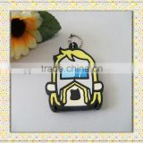 custom rubber cartoon pvc 2013 mini cool key holder