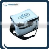 MINI600d polyester cooler bag insulated lunch shoulder cooler bag cooler shoulder bag with long strap