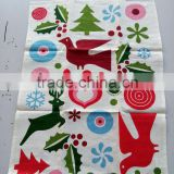 kitchen linen tea towel for promotion and giftkitchen printed tea towel for home decoration christmas design
