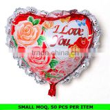 Wolesale Custom Made Heart Shape Printed Nylon Balloon