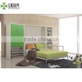 Modern design horizontal folding wall bed with table WB-05