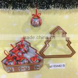 Hot Selling High Quality 7cm Personalized Christmas Ball Ornaments With Tree Shape Gift Box