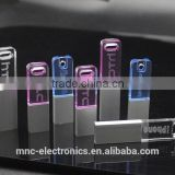 New design custom laser engraving logo branded transparent acrylic crystal usb flash thumbdrive pen drive with led light                                                                                                         Supplier's Choice