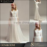 Latest Style High Quality parti dress import from china beaded strap and beaded sash bridal maxi dress