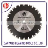 Laser welded segmented diamond saw blade fot long life cutting extremely abrasive material