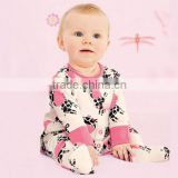 2016 new arrival long sleeve pink/white baby romper with little giraffe logo hot sale Infant clothing and toddlers clothing                                                                         Quality Choice