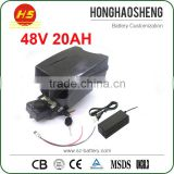 Rechargeable Lithium Battery 48v 20Ah Li-Ion E-Bike Battery Pack 48 Volt 1000w with F rog Case