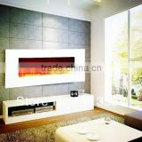 LED ( logs , crystal , pebbles optional ) white wall mounted flame electric fireplace                                                                         Quality Choice