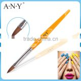 ANY Nail Art Beauty Care Acrylic Nails Design Oval Kolinsky Nail Brush