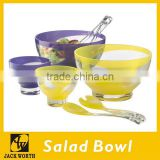 Acrylic Salad Bowl Set with Salad Server