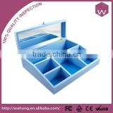 New Arrival Fashion Blue Plastic Trinkets Gift Box/ Many Compartments Custom Plastic Display Case