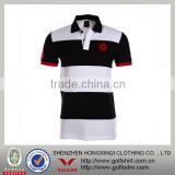 cotton/polyester 220gsm pique mesh USA size men's classic polo shirt contrast color Golf shirt