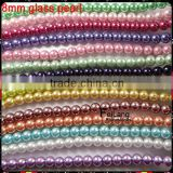 Feilang wholesale colorful imitation glass pearl beads for Jewelery                                                                         Quality Choice
