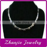 wholesale stainless steel titanium necklace made of ceramic and titanium with health magnetic element