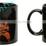 dragon ball color changing mug, goku mug, heat reactive mug