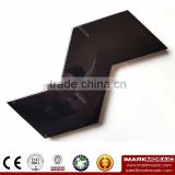 Imark AXIS Z Shape 3D- Effect Black Pure Color Gloosy Glazed Ceramic Wall Tile For Kitchen Tile