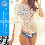 Free size big sleeves crochet beach kaftans tunics cover short beach coat                                                                         Quality Choice