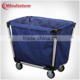 Disassembled Hotel Linen Laundry Cleaning Cart Equipment/Laundry Hamper Trolley