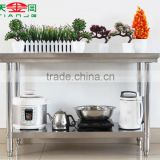TJG Metal Steel Frame Workbench Stainless Steel Workbench For Commercial Kitchen School