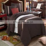 New 4pcs European Five-Star hotel bedding set luxury bedding set Stripes Comforter Set King Size Bed Cover Set/Pillowcase