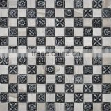 JY-Mx-SR01 Eurpoen interior wall decorate tiles caving resion mix gray stone sheet mosaic Antique palace mosaic