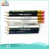 promotion cartoon black round carpenter mini golf pencil