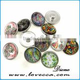 Jewelry Charms Factory Directly Wholesale Green Alloy Personality DIY Bracelets Press Snap Button