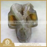 Rare Shinning Ball Geode Crystal Carving Skull good for home decoration or gift to friend