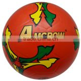 Official size and weight sporting goods nice looking 4# rubber red soccer ball golf finish