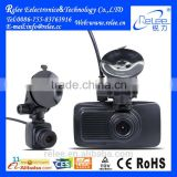2.7'' LCD screen FHD 1080P cycle recordring dual cam car dvr dashboard camera black box