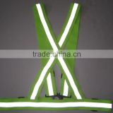 Safety reflective elastic straps vest