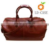 Classic Vintage Brown Genuine Leather Travel Bag / Mens Genuine Leather Fashion Leather bag