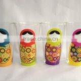 2016 new design colored pint glass with graphic