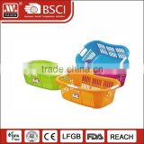 China Large size commercial wholesale new plastic storage basket with handle plastic laundry basket in bulk