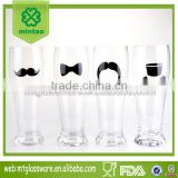 wholesale fancy thin beer glass with logo