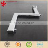 Faceout clothes stepped hanger display arm for retail store fixtures chromed finish oval tube