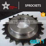 Made by cnc machine standard teeth heat treatment roller chain sprockets