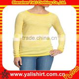 Wholesale fashion comfort o-neck slim fit long sleeve cotton mix size cheap tshirts bulk