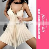 Hot Sale Cream Ladies Sexy Babydoll Women Fashion Sleepwear Underwear