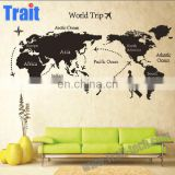 Wholesale 60*90cm DIY Home Decor Art Removable Mural Decals World Map Wall Sticker