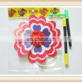 Promotional Colorful Printing Plastic toy windmill stick